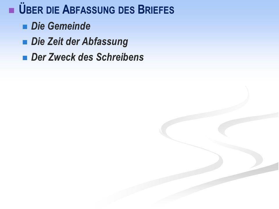 Römerbrief: Gliederung anhand des Stichwortes Rettung' Rahmen 1,1-17 I.