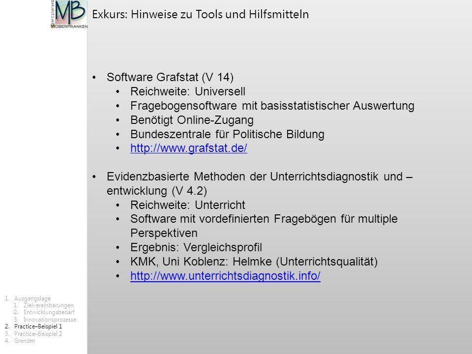 Software Grafstat (V 14) Reichweite: Universell Fragebogensoftware mit basisstatistischer Auswertung Benötigt Online-Zugang Bundeszentrale für Politis
