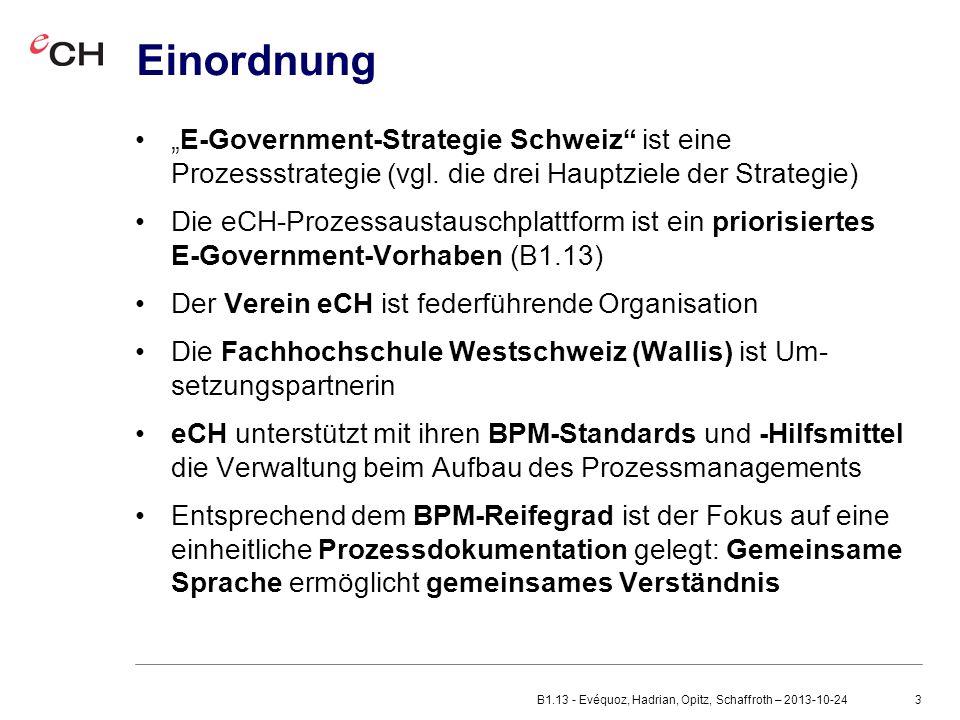 """3 Einordnung """"E-Government-Strategie Schweiz ist eine Prozessstrategie (vgl."""