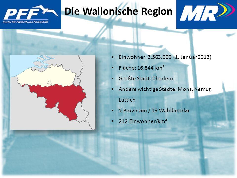 Die Wallonische Region Einwohner: 3.563.060 (1.