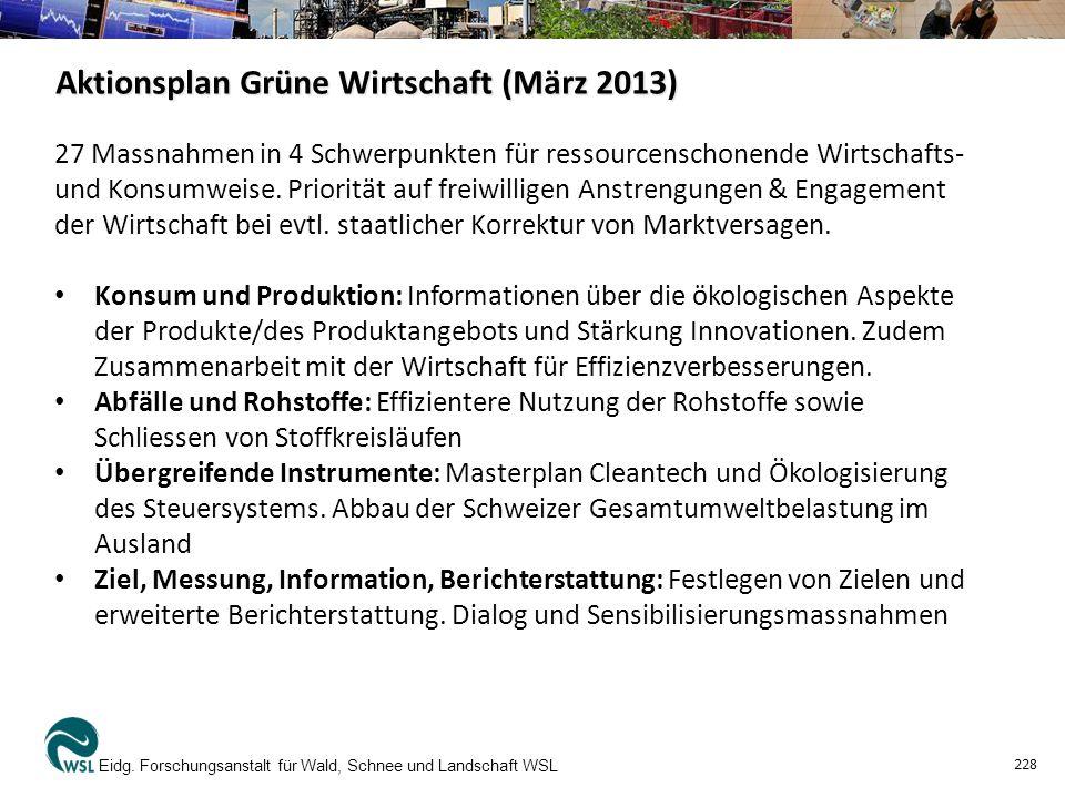 Aktionsplan Grüne Wirtschaft (März 2013) Eidg.