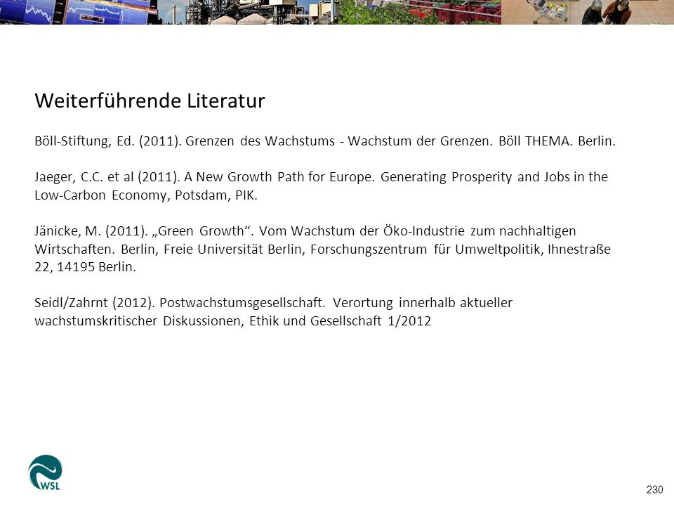 Weiterführende Literatur Böll-Stiftung, Ed.(2011).