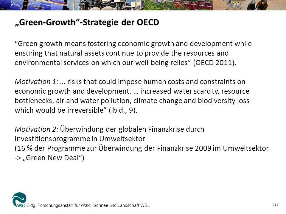 """""""Green-Growth -Strategie der OECD -2- Eidg."""