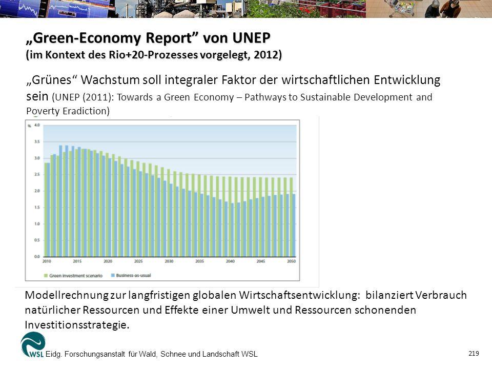 """""""Green-Economy Report von UNEP (im Kontext des Rio+20-Prozesses vorgelegt, 2012) Eidg."""