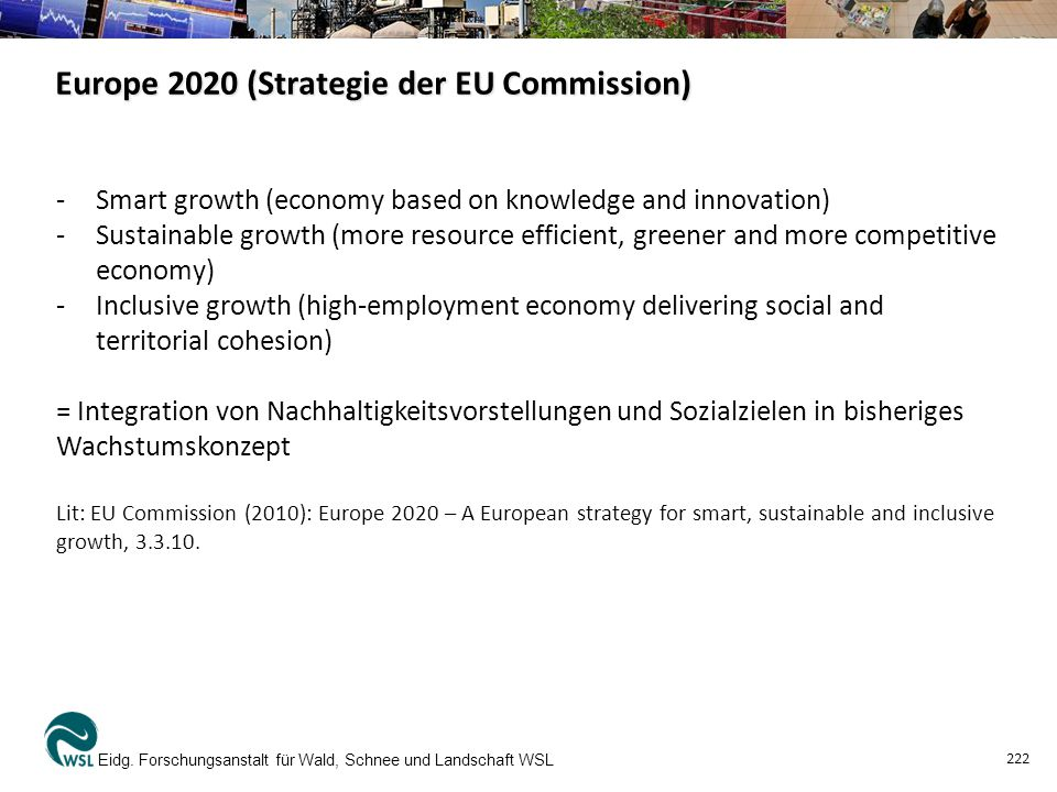 Europe 2020 (Strategie der EU Commission) Eidg.