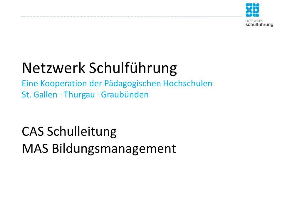 Netzwerk Schulführung Eine Kooperation der Pädagogischen Hochschulen St.