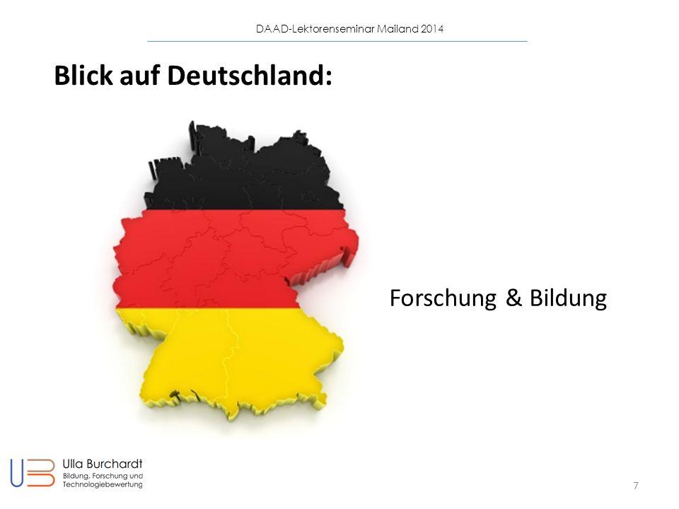 DAAD-Lektorenseminar Mailand 2014 7 Blick auf Deutschland: Forschung & Bildung