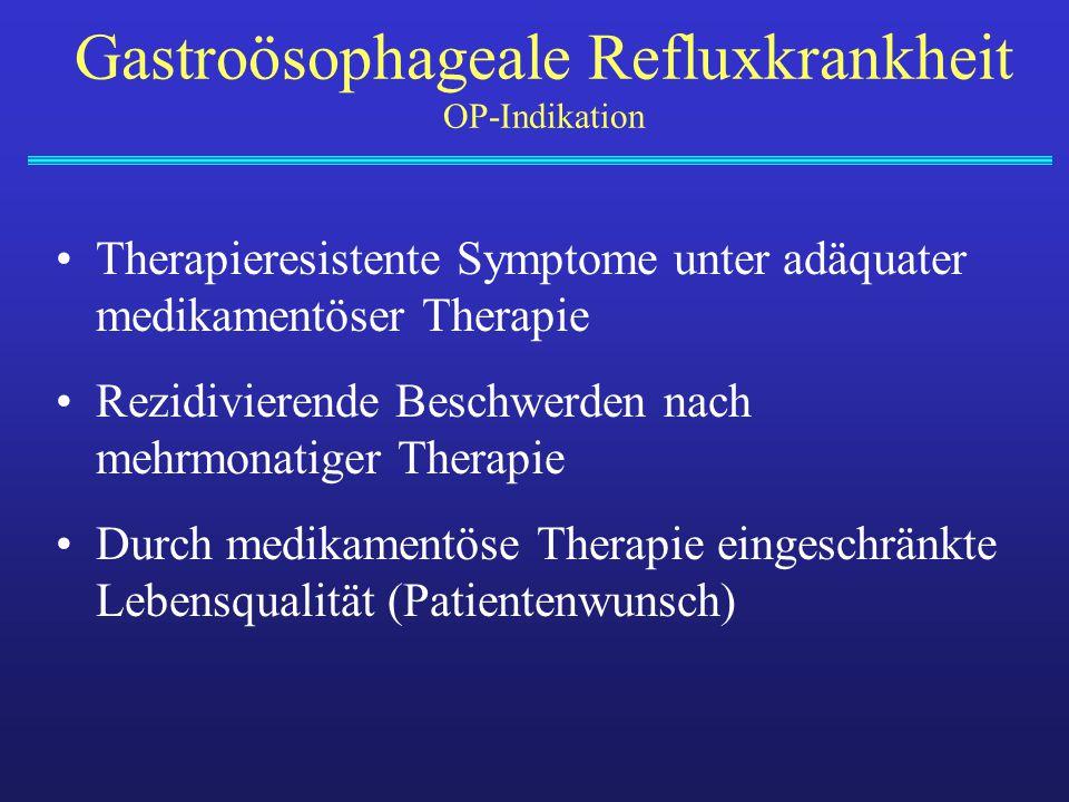 Therapieresistente Symptome unter adäquater medikamentöser Therapie Rezidivierende Beschwerden nach mehrmonatiger Therapie Durch medikamentöse Therapi