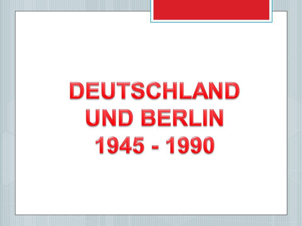 Die Alliierten besetzten Deutschland.