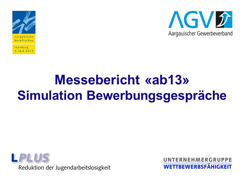 Messebericht «ab13» Simulation Bewerbungsgespräche