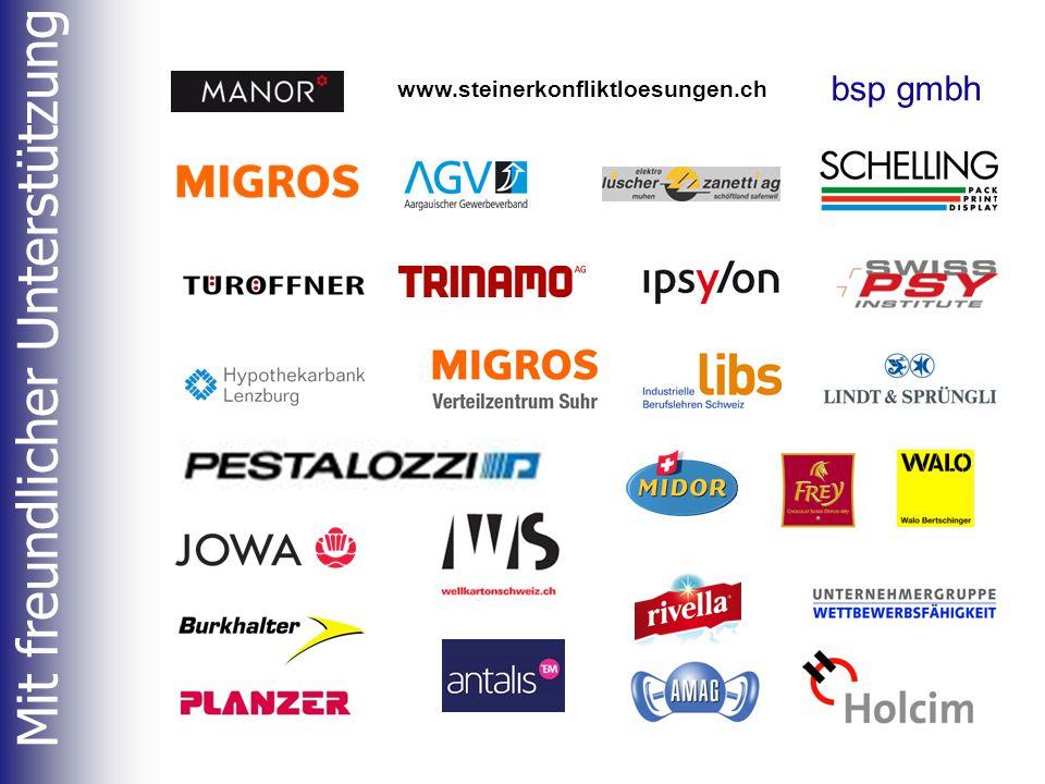 Mit freundlicher Unterstützung www.steinerkonfliktloesungen.ch bsp gmbh