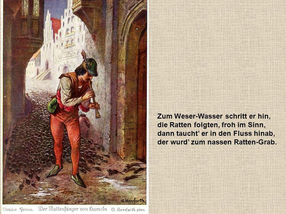 Der Buntling ward er auch genannt, ganz fremd schien er im Weserland, in vielen Farben prangt' sein Kleid, was neu ist lockt zu jeder Zeit.