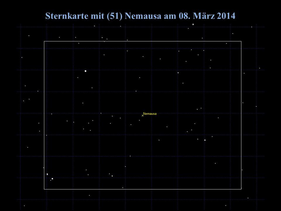 Sternkarte mit (51) Nemausa am 08. März 2014 2014/06/14G. Dangl10