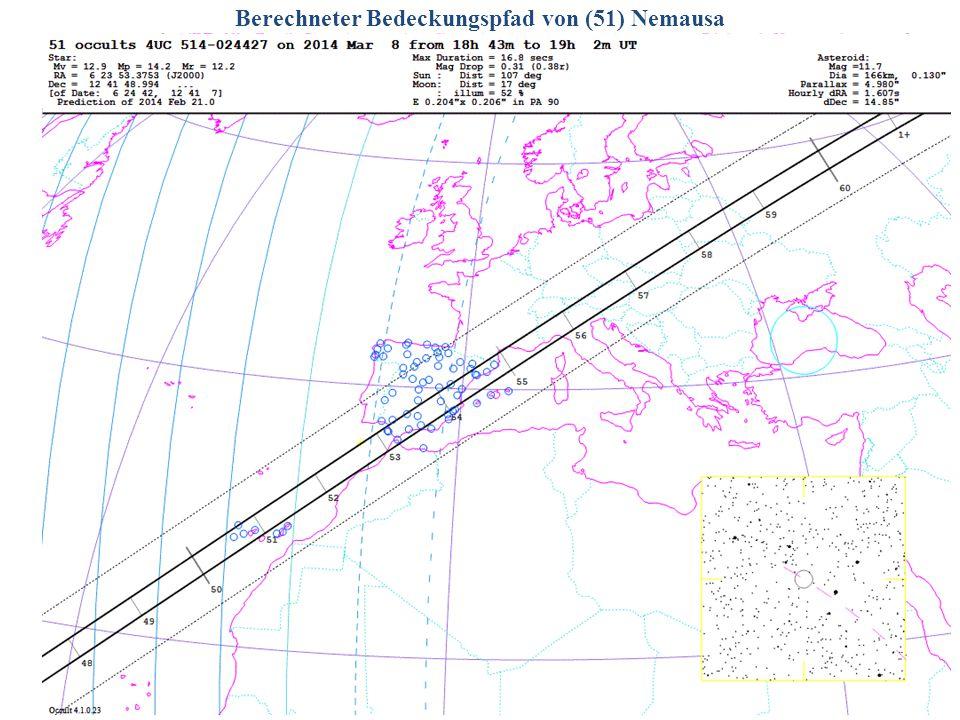 Berechneter Bedeckungspfad von (51) Nemausa 2014/06/14G. Dangl11