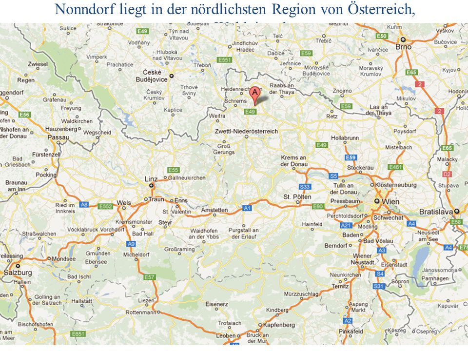 Luftbild Nonndorf 2014/06/14G. Dangl3 Nonndorf – C47 15° 14´ 08 2 Ost, 48° 47´ 13 6 Nord, 547 MSL