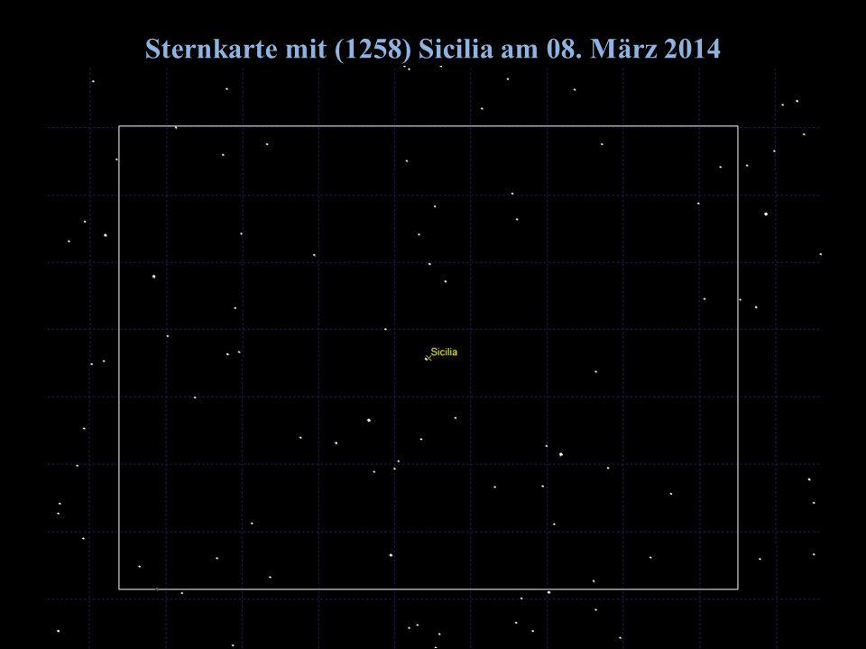 Sternkarte mit (1258) Sicilia am 08. März 2014 2014/06/14G. Dangl20