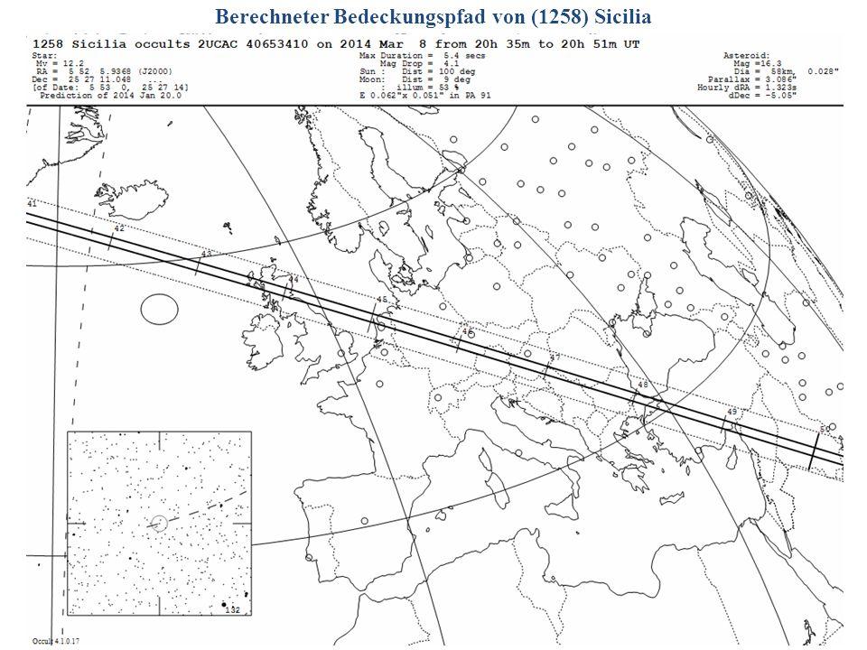Berechneter Bedeckungspfad von (1258) Sicilia 2014/06/14G. Dangl21