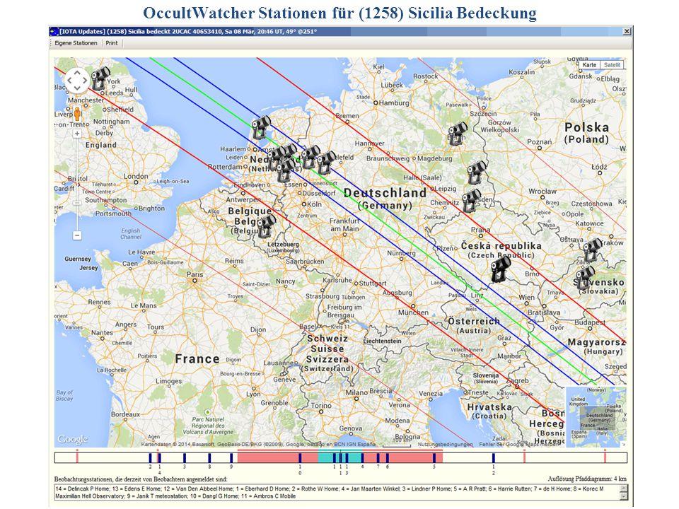OccultWatcher Stationen für (1258) Sicilia Bedeckung 2014/06/14G. Dangl22