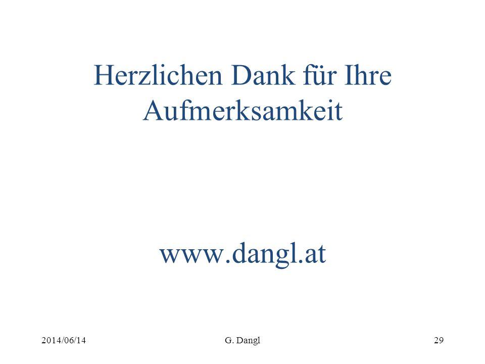 Herzlichen Dank für Ihre Aufmerksamkeit www.dangl.at 2014/06/14G. Dangl29