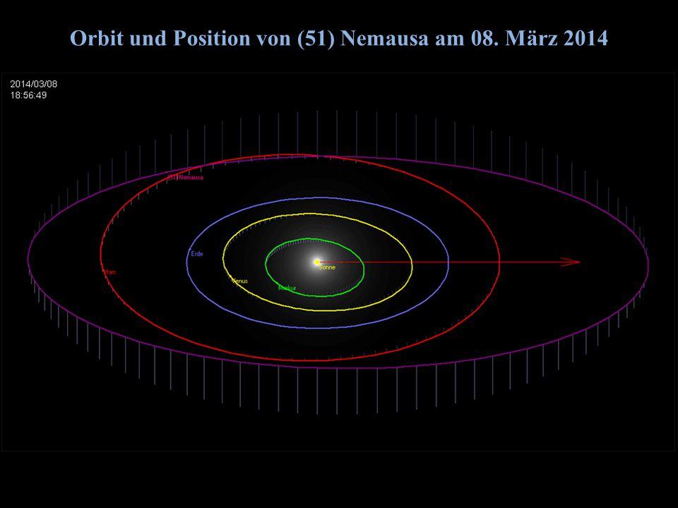 Orbit und Position von (51) Nemausa am 08. März 2014 2014/06/14G. Dangl9