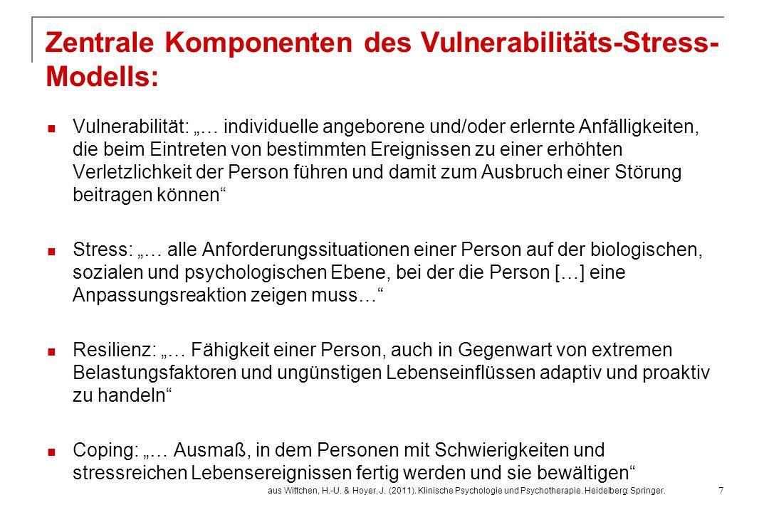 """Vulnerabilität: """"… individuelle angeborene und/oder erlernte Anfälligkeiten, die beim Eintreten von bestimmten Ereignissen zu einer erhöhten Verletzli"""