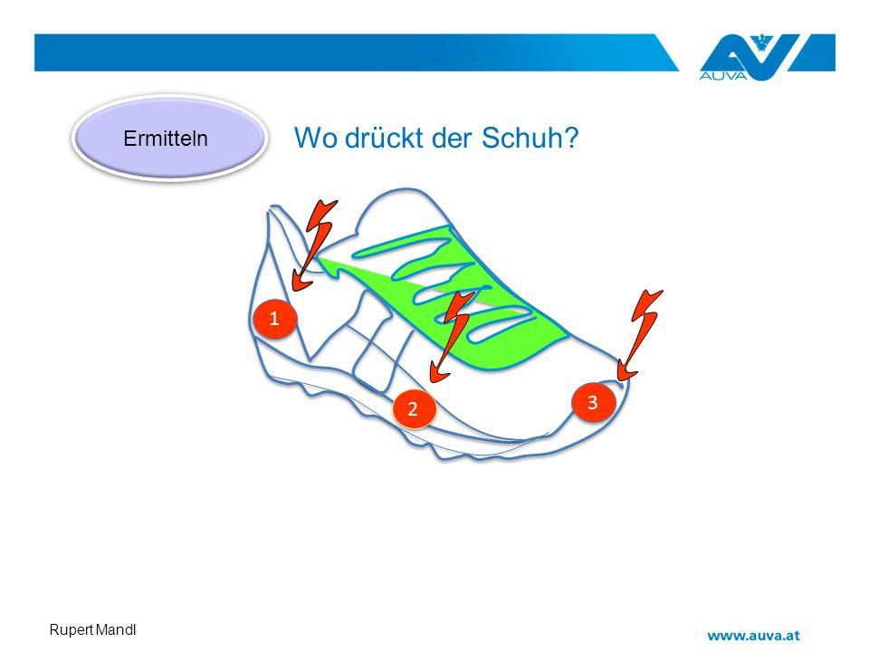 Rupert Mandl 3 3 2 2 1 1 Ermitteln Wo drückt der Schuh?
