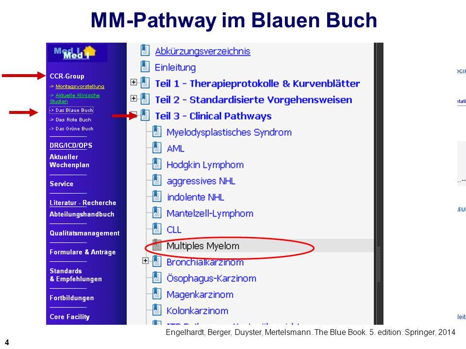 MM-Pathway im Blauen Buch Engelhardt, Berger, Duyster, Mertelsmann. The Blue Book. 5. edition. Springer, 2014 4