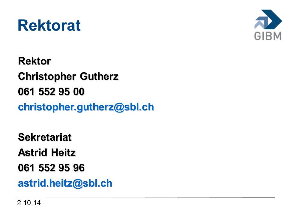 2.10.14 Informatiker 2014-2018 Per August 2014 angebotene Schwerpunkte Applikationsentwicklung Applikationsentwicklung Systemtechnik Systemtechnik Betriebsinformatik Betriebsinformatik 1.