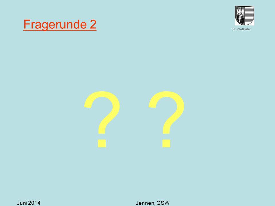 St. Wolfhelm Juni 2014Jennen, GSW Fragerunde 2 ? ?