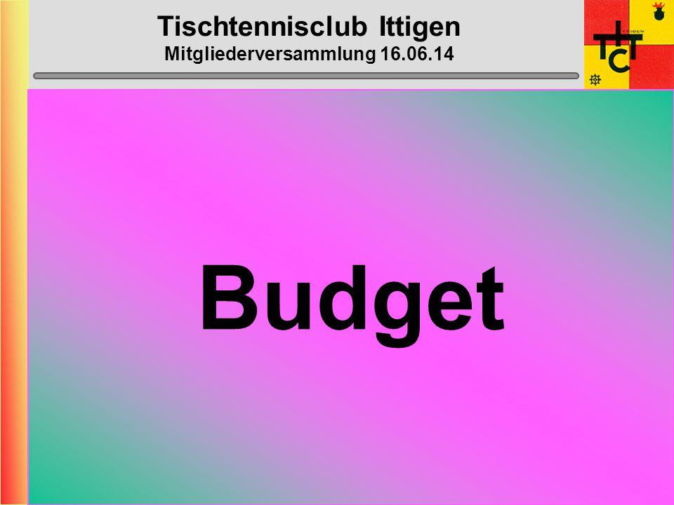 Tischtennisclub Ittigen Mitgliederversammlung 16.06.14 Klub- Meisterschaft 14. November 2014