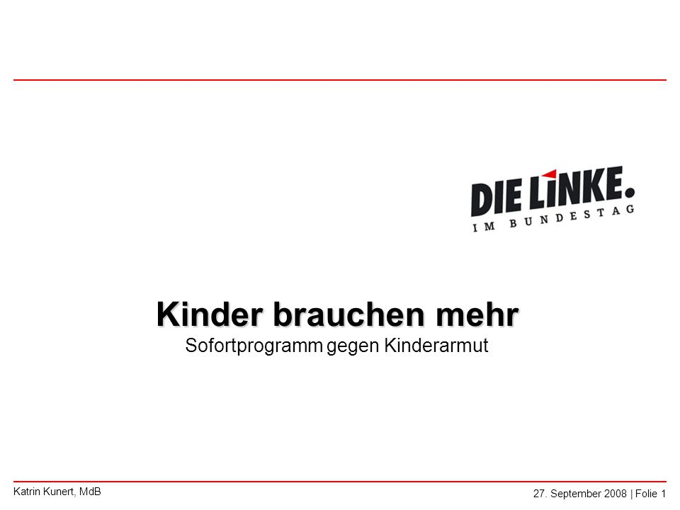 ◄ Kinderarmut in Deutschland - Fakten 27.