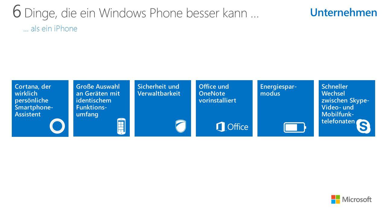 6 Dinge, die ein Windows Phone besser kann … … als ein iPhone Unternehmen