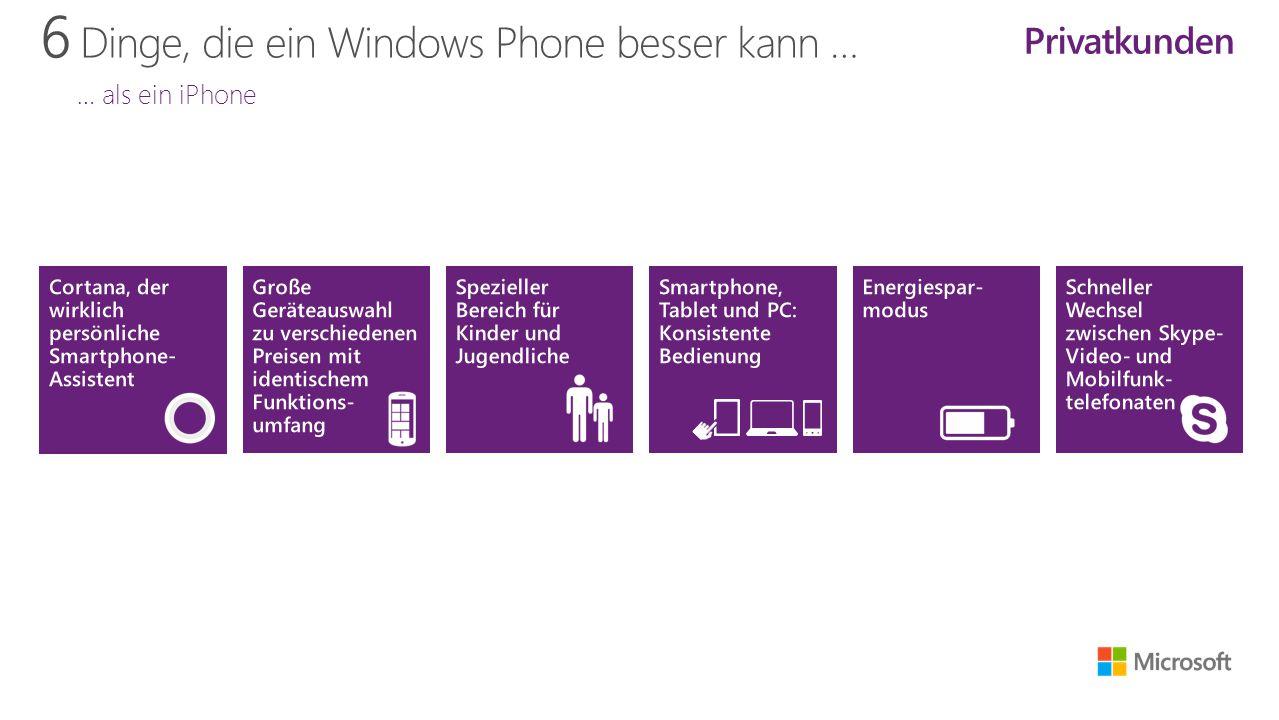 6 Dinge, die ein Windows Phone besser kann … … als ein iPhone Privatkunden