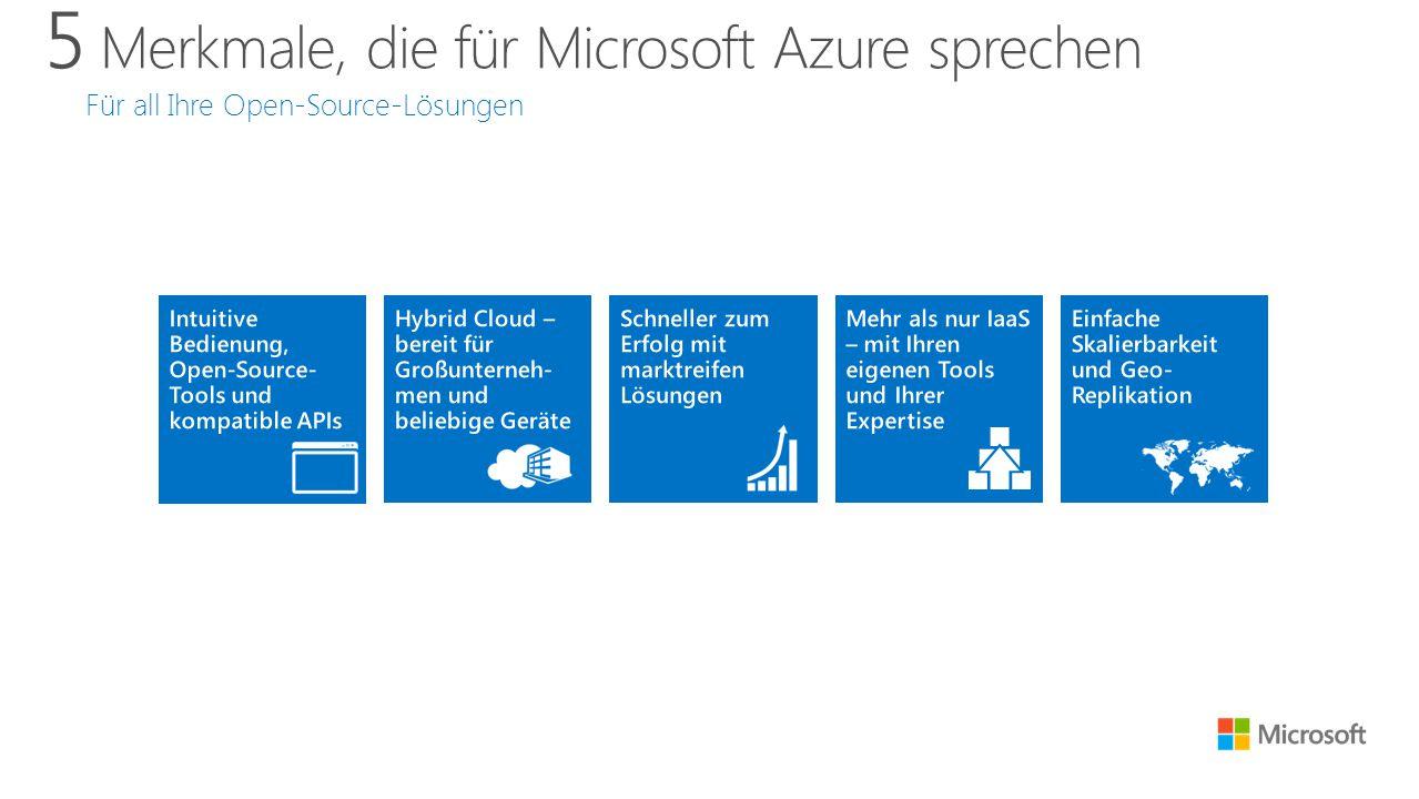 5 Merkmale, die für Microsoft Azure sprechen Für all Ihre Open-Source-Lösungen