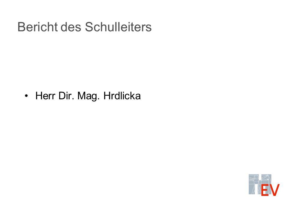 Bericht des Schulleiters Herr Dir. Mag. Hrdlicka