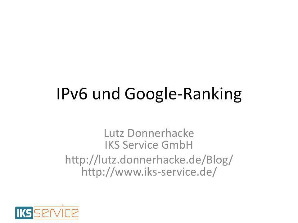 Beobachtung fremder Seiten Test an fremd gehosteten Seiten – Hinzufügen eines AAAA mit NAT64 – Beobachtung der Rankingwerte NAT64 – Standard-Mapping: IPv4 in hex als Hextets in IPv6 – Wunsch-Mapping: 1.2.3.4 → 2001:db8:x:1:2:3:4 – Selbstgeschrieben (Minus Null, Logging) IPv6 und Google Ranking12