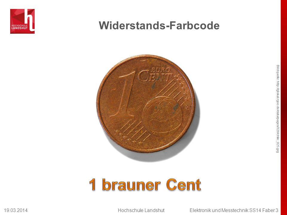 Widerstands-Farbcode Bildquelle: http://glokal.rgeo.de/data/pages/328/chile_025.jpg 19.03.2014Hochschule LandshutElektronik und Messtechnik SS14 Faber