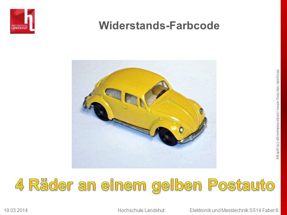 Widerstands-Farbcode Bildquelle: http://img.webme.com/pic/s/sikuner/gh-230-gelb.jpg 19.03.2014Hochschule LandshutElektronik und Messtechnik SS14 Faber