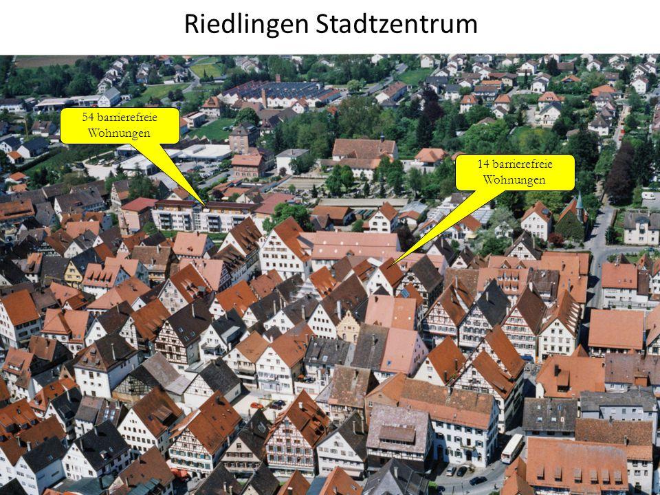 Riedlingen Stadtzentrum 14 barrierefreie Wohnungen 54 barrierefreie Wohnungen 29