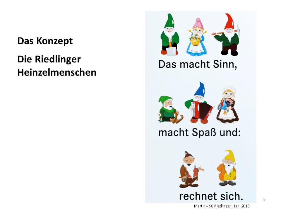 9 Die Riedlinger Heinzelmenschen Das Konzept
