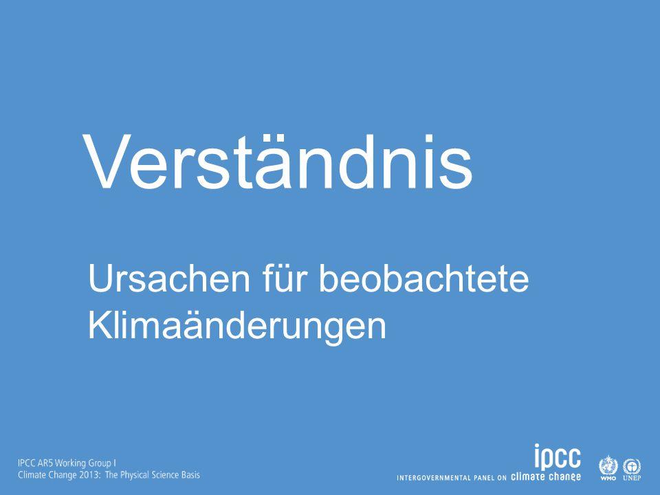Verständnis Ursachen für beobachtete Klimaänderungen