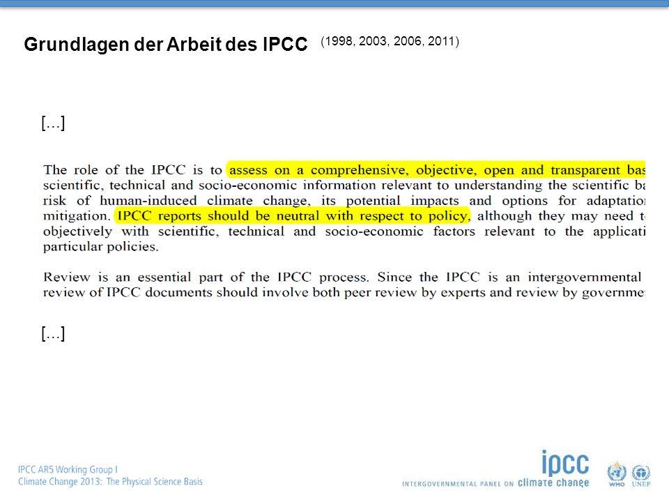 Grundlagen der Arbeit des IPCC (1998, 2003, 2006, 2011) [...]