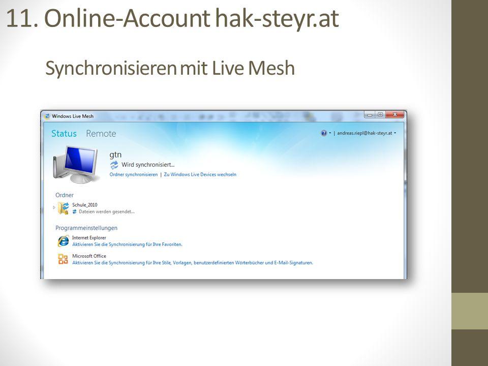Synchronisieren mit Live Mesh