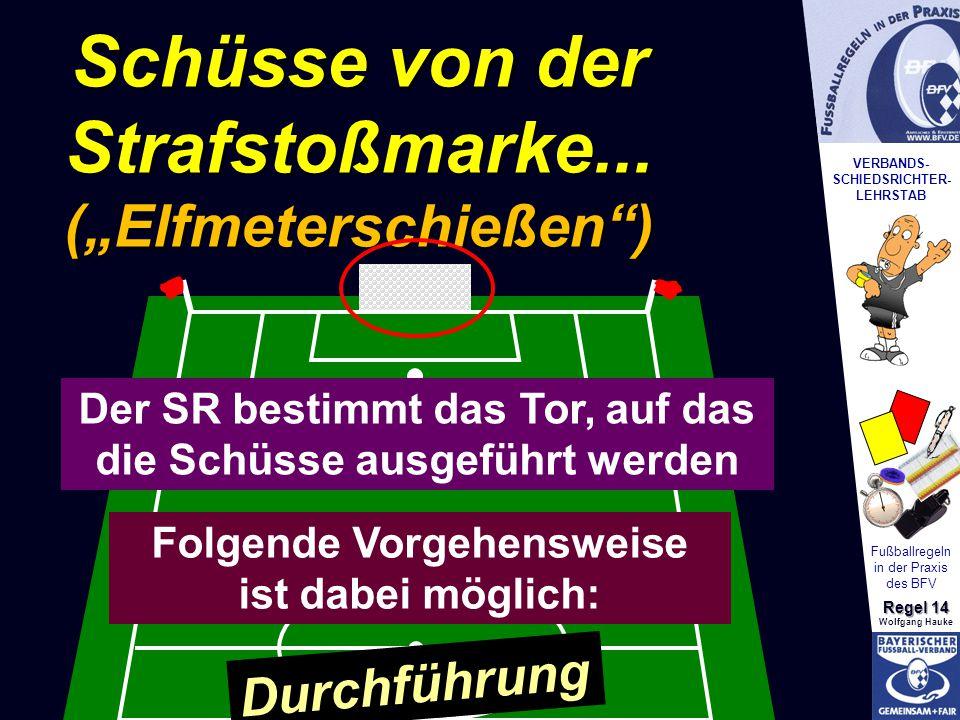 VERBANDS- SCHIEDSRICHTER- LEHRSTAB Fußballregeln in der Praxis des BFV Regel 14 Wolfgang Hauke... ist eine Methode einen Sieger zu ermitteln, Schüsse