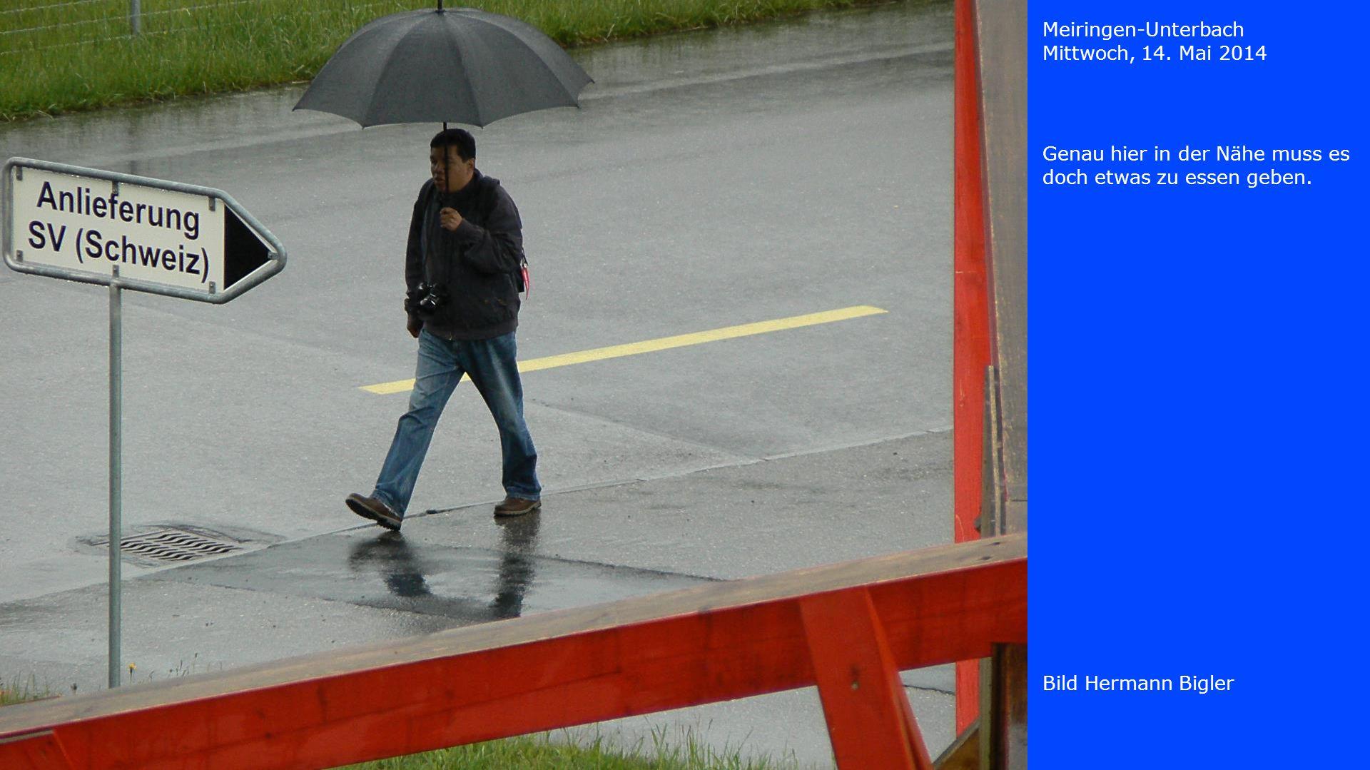 Meiringen-Unterbach Mittwoch, 14.Mai 2014 Bild Carlos Bigler Der Wind hat gekehrt.