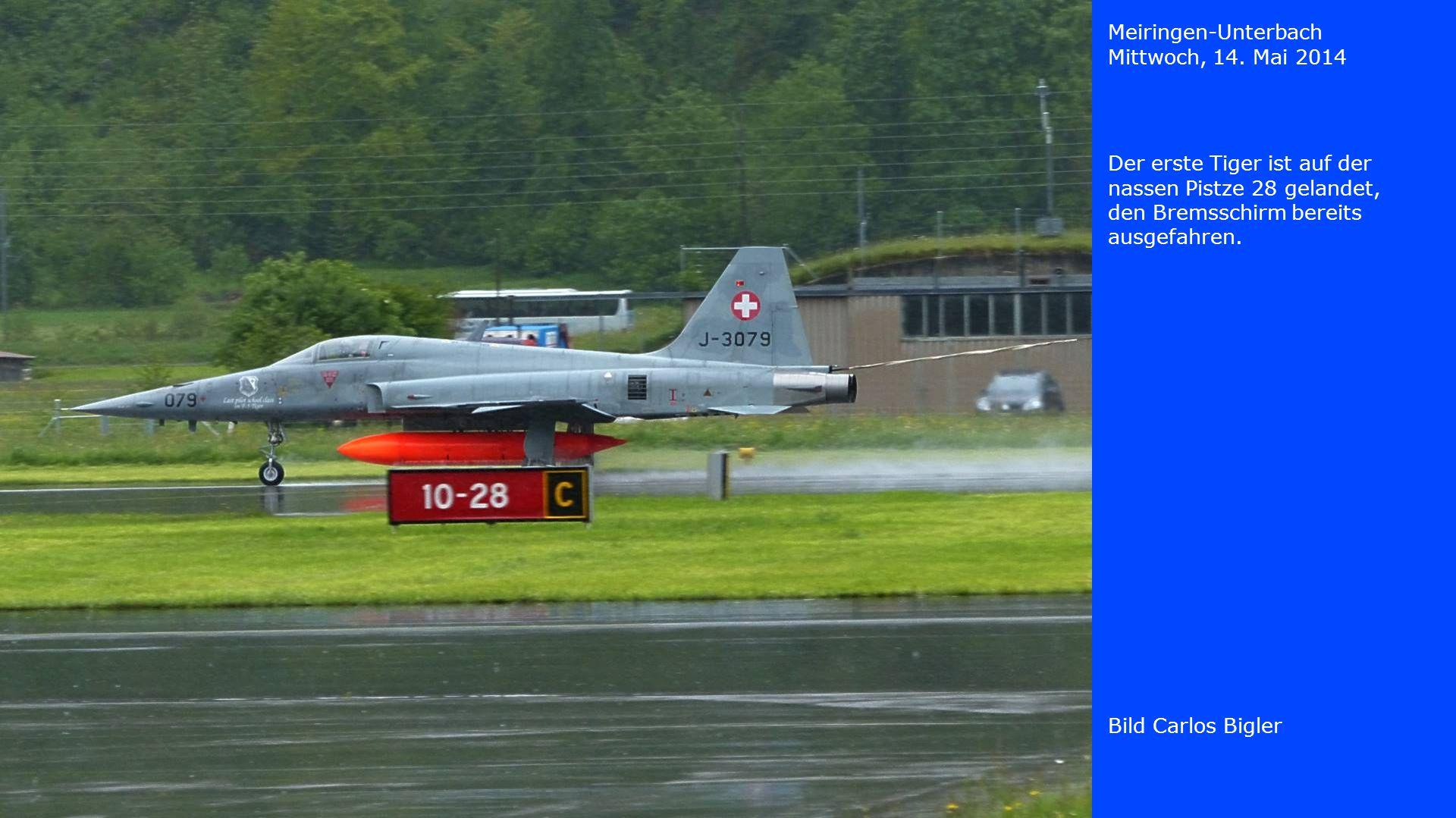 Meiringen-Unterbach Mittwoch, 14. Mai 2014 Bild Carlos Bigler Die zweite Maschine hat aufgesetzt.
