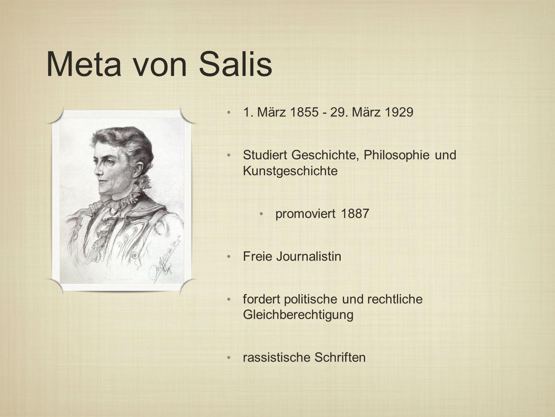 Meta von Salis 1.März 1855 - 29.