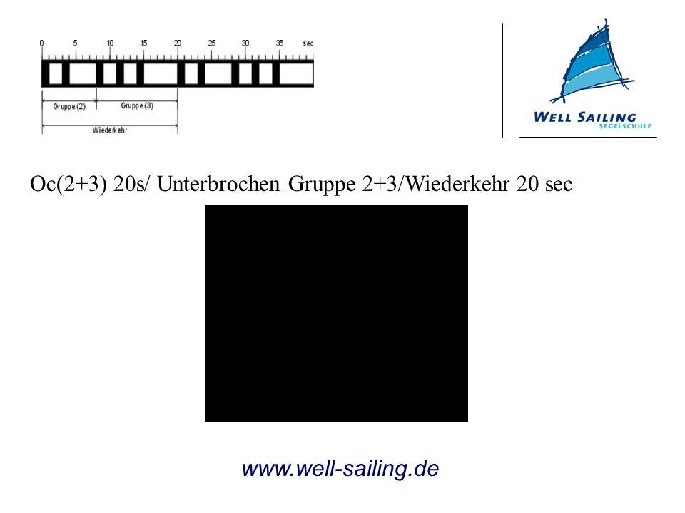 Oc(2+3) 20s/ Unterbrochen Gruppe 2+3/Wiederkehr 20 sec www.well-sailing.de