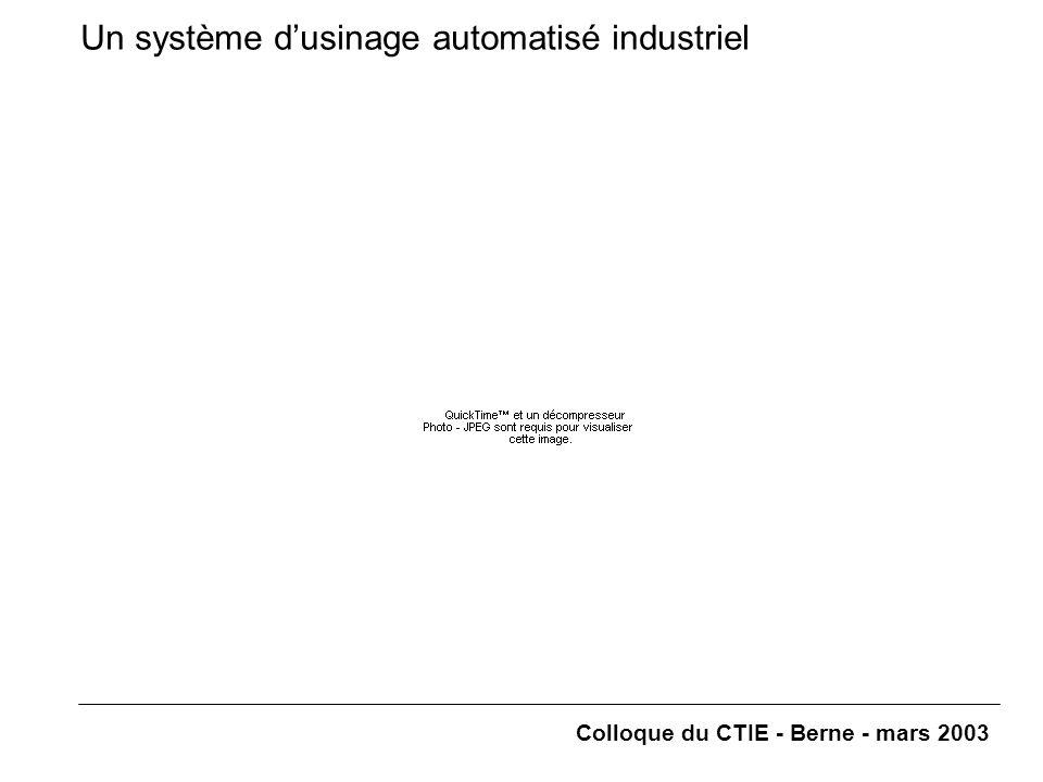 Colloque du CTIE - Berne - mars 2003 Un système d'usinage automatisé industriel