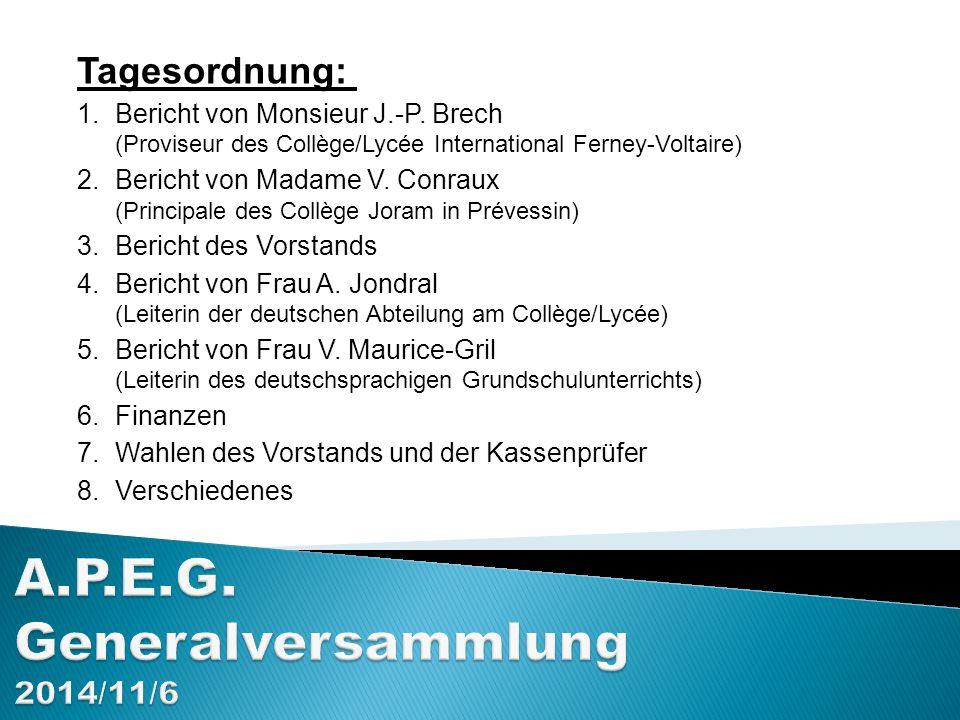 A.P.E.G.Generalversammlung 9. Oktober 2014 Ziel und Aufgaben Aus den Statuten (Art.